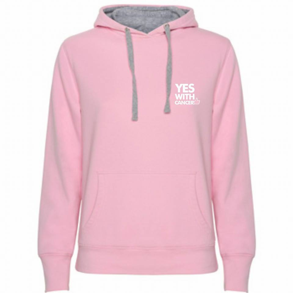 Sudadera rosa YWC - Yes with Cancer